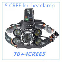 5 LED Headlight 15000 Lumens Cree XM- L T6 Head Lamp High Pow...