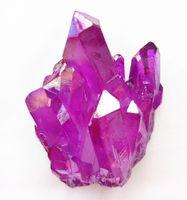 65g di titanio rivestito di quarzo fucsia a grappolo Natural Rock Aura angel Crystal cluster di pietra Specimen reiki healing