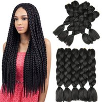 Pure Color Braiding Hair 24inch Jumbo Braids High Temperatur...