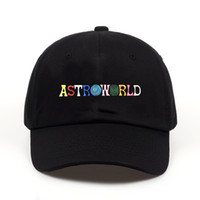 Uomo Donna ASTROWORLD Cappelli Moda Travis Scotts Lettera Stampa Caps Uomo Hip Hop High Street Caps Donna Cappellini da baseball Lovers Cappelli