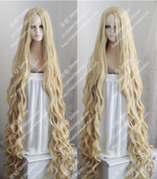 150CM Long Wavy Curly Wig Occident Pastoral Style Mix Blonde...