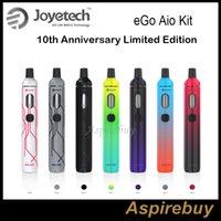 Joyetech eGo Aio Kit 10th Anniversary Limited Edition All-In-One Style Gerät mit 1500mAh Akku und 2ml e Liquid Authentic New Mix Farben