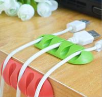 2018 Cable de alambre multiusos Cable de escritorio Tidy Holder Clips de gota Organizador Line Fixer Winder Line Accesorios Cargador USB Cable Holder