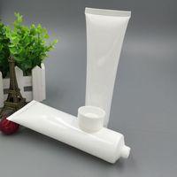 20 unids / lote 100 ml (g) Plástico Cosmético Blanco Crema facial para la cara Loción Tubos blandos Envases de muestra vacía Envasado LG100