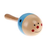22 x 6 CM Sonajero para niños pequeños Sonido Regalo de música Sonajero para niños pequeños Juguetes de madera coloridos para los niños Regalo