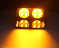 Hög effekt 8W LED Multi Function Car Strobe Varningslampa, nödljus, polisljus, brandbil blinkande ljus, installera med 3 sugare