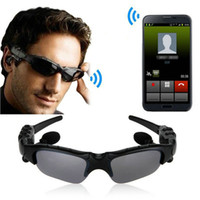 Óculos de sol Bluetooth Headset Sunglass Wireless Stereo Sports Headphone Handsfree Earphones MP3 Music Player Com pacote de varejo