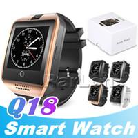 Q18 Bluetooth relógio inteligente Passometer com câmera Touch Screen relógios Suporte smartwatch cartão de TF para o Android com Retail Box