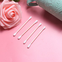 Donna Beauty Makeup Cotton Swab Double Head Cotton Buds Make Up Wood Sticks Nose Ear Pulizia Cosmetici