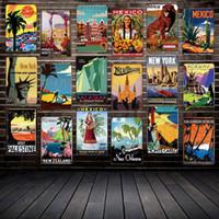 [Mike86] ANTIGO VIAGEM Sinais de Estanho Famosos Países Cidades Vintage Placa De Parede Arte Pintura Cartazes FG-216