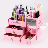 Wood- plastic Cosmetics Storage Box Makeup Tools Skin Care Pr...