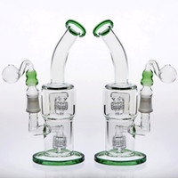 Green Glass Water Pipes Joint 18. 8mm 24cm Double Birdcage Pe...