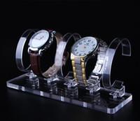 5 Bits di alta qualità orologio da polso Display Stand Rack Rack acrilico trasparente gioielli braccialetto Display stand decorazione espositore organizzatore rack