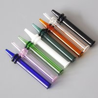 New Glass Pipe Colorful Pen Style straight Tube Glass Water ...