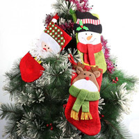 Popular 3 pcs Christmas Decoration Gifts Candy Bag Stocking ...