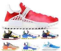 Acquista Human Race Pharrell Williams Hu Scarpe da corsa Sneakers Uomo Donna Purple Trail Pacchetto solare Creme X Pw Nerd Sports Trainer Scarpe da ginnastica