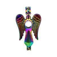 10 pz / lotto Arcobaleno Colore Angel Pearl Cage Beads Cage Locket Pendant Diffusore Aromaterapia Profumo Oli Essenziali Diffusore Floating Pom