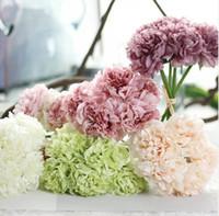 1 Bouquet 5 Cabeça de Casamento Artificial Flor De Hortênsia Festa de Casamento Em Casa de Aniversário Floral Decorativo Popular Flores GA281