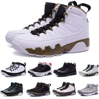 2018 9 per LA BRED BLACK WHITE Mens Scarpe da basket classiche 9s IX Mid Athletic Sport Sneakers
