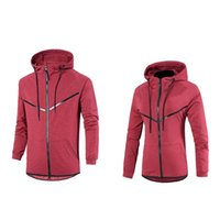 New Sport brand hoodies for men tide solid patchwork cardiga...