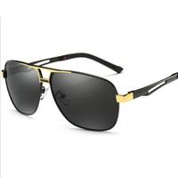 UV400 Clássico Do Vintage Moda Polarizada Óculos De Sol Quadrado Óculos de Condução óculos de sol de pesca para Homens 8521