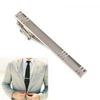 Формальные мужские сплава металла мода серебро простой галстук галстук контактный бар Застежка клип аксессуары для мужской костюм хороший подарок