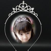 Carino bambini gioielli diadema corona fiore di cerimonia nuziale della principessa di cristallo Strass Tiara fascia