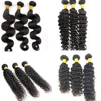 버진 페루의 헤어 번들 레미 인간의 머리카락 웨이브 물결 100 % 브라질의 인도 몽골어 제직 헤어 익스텐션 도매