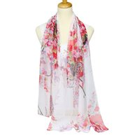 New Georgette Small Flower Print Scarf Women' s Fashion ...