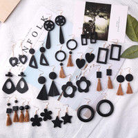 Many choices European and American retro hyperbolic earrings...