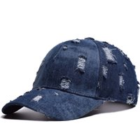 Hot hole denim baseball cap ladies fashion open ponytail cap