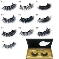 100% Mink Hair Eyelash 3D Luxury Mink False Eyelashes Reusab...