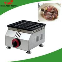 Ticari 25 Delik Gaz Poffertjes Izgara Popüler Poffertjes Maker Mini Pancake Maker Dorayaki Pan Snack Ekipmanları