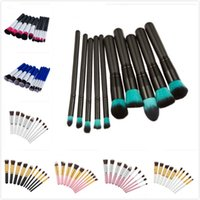New 10 Colors 10pcs set Makeup Brushes Sets Blush Powder Eye...
