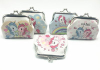 New Fashion Mini Unicorn Pattern Womens PU Wallets Holders P...