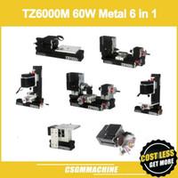 TZ6000M 60 W Metal 6 1 Mini torna / 60 W, 12000 rpm Mini 6in1 torna Makinesi / DIY Güçlü metal torna / Torna tezgahı