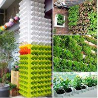 SOLEDI Plastik Ekici Saksı Duvar Asılı Bahçe Asılı Istiflenebilir Bahçe Malzemeleri Bahçe Korkuluk için Patios Ev Aralık