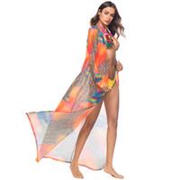 Kadınlar Leopar Baskılı Şifon Şal Hırka Bluz Tops Yaz Plaj Elbise Bikini Uzun Kapak-ups Kimono Tasarım