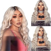 New Sexy Style Dark Roots Long Blonde Wig Heat Resistant 26i...
