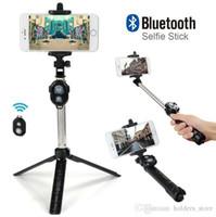 Hot Qualidade Dobrável Mini Selfie Vara Self Bluetooth Selfie Vara + Tripé + Bluetooth Controle Remoto Obturador para iPhone Android