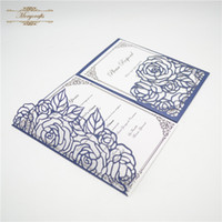 New Hot Sale Luxury Laser Cut Tri- Folded Wedding Invitation ...