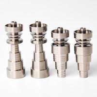 Universal Domeless 6IN1 Unhas De Titânio 10mm 14mm 18mm conjunta para masculino e feminino domeless frete grátis de alta qualidade