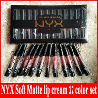 Usine direct NYX doux mat crème pour les lèvres Crème LipGloss rouge à lèvres Vintage Long Lasting NYX Lip lingerie 12 couleur DHL livraison gratuite + cadeau