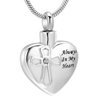 Wholesale Heart Cremation Urn Necklace for Ashes Stainless s...