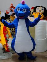 공룡 마스코트 의상 애니메이션 테마 작은 푸른 괴물 Cospaly 만화 마스코트 캐릭터 할로윈 Purim 파티 카니발 의상