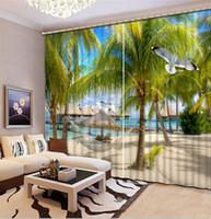 3D занавес Коко пейзаж занавес окна гостиной кухня шторы