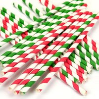 200 peças / lote canudos de papel para crianças festa de aniversário de casamento decoração de natal chevron beber canudos de papel Eco-friendly