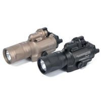 Tactical X400V IR Night-versie Zaklamp Wit en tijdelijke uitvoer met rode laserlicht fakkel