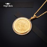 الأزياء قلادة القلائد مجوهرات الطوطم شجرة الذهب لون الديانة مسلم المجوهرات خمر قلادة للنساء رجل