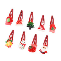 100PCS 새로운 고품질 크리스마스 헤어핀 귀여운 여성 소녀 헤어 클립 아이 크리스마스 선물은 무작위로 헤어 액세서리 선물을 보내기